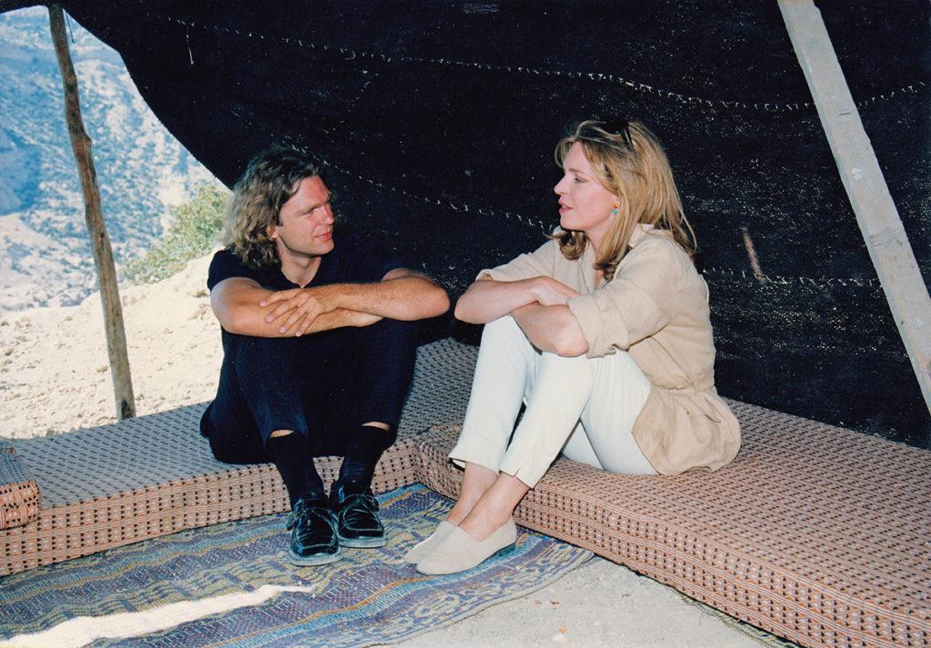 Königin Noor von Jordanien und Michael Steinbrecher, 1999